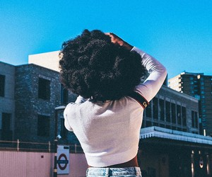 Afro, beautiful, and girl image