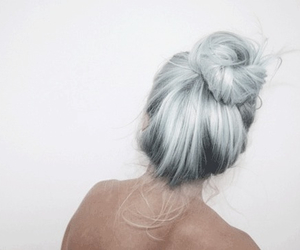 blonde, braid, and bun image