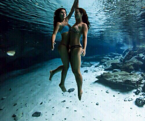 diving, fashion, and people image