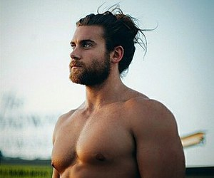 beard, hair, and Brock image