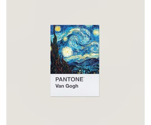 art, van gogh, and pantone image