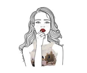 girl, illustration, and art image