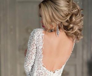 hair, girl, and wedding image