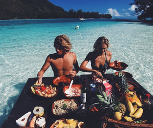 food, summer, and couple image