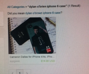funny, iphone cases, and dylan o'brien image