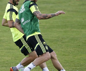 training, sergio ramos, and spain nt image