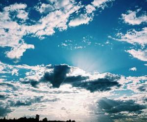 sky, blue, and vintage image