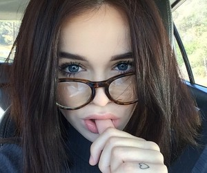 girl, glasses, and acacia brinley image