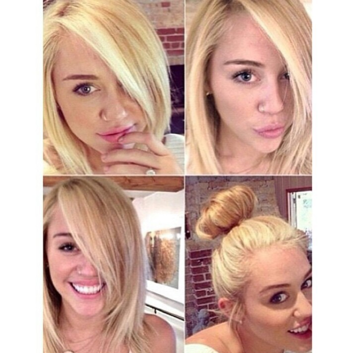 I Miss Miley S Short Blonde Hair On We Heart It
