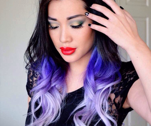 color, colours, and purple hair image