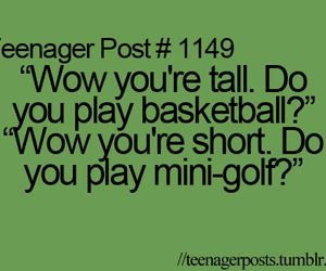 teenager post, funny, and tall image