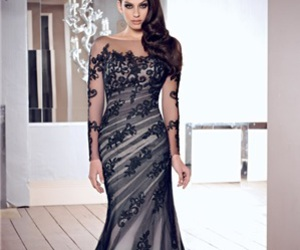 dress, elegant, and evening dress image