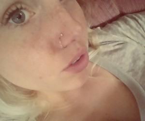 nose piercing, piercing, and double nose piercing image