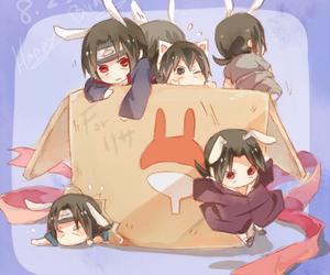 anime, chibi, and itachi uchiha image