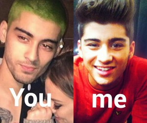 green hair, lol, and quiff image