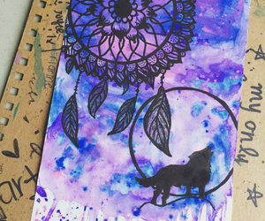drawing, dream catcher, and painting image