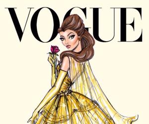 vogue, disney, and belle image