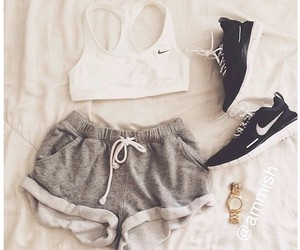 style, fitness, and nike image