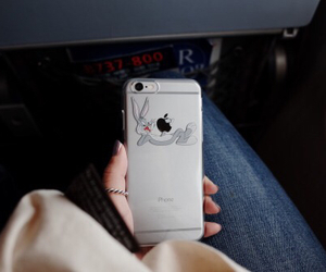 iphone, apple, and bugs bunny image