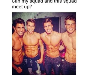 abs, boys, and funny image