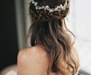 hair, braid, and wedding image