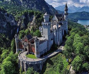 castle, disney castle, and neuschwanstein image