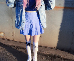pink hair and style image