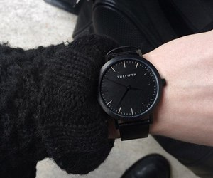 black, watch, and style image