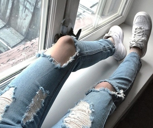 jeans, grunge, and nike image