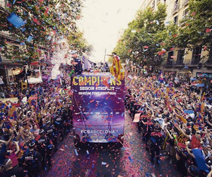 Barcelona, champions, and street image