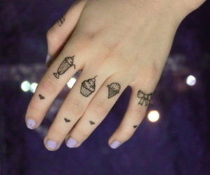 tattoo, cupcake, and hand image