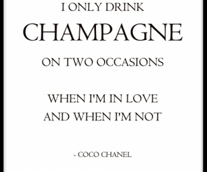 champagne, chanel, and coco image