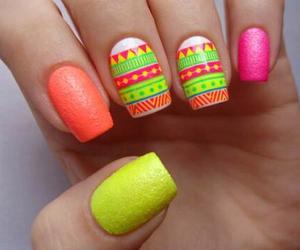 nails, orange, and yellow image