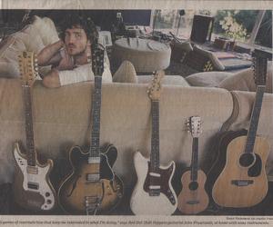 John Frusciante and guitar image
