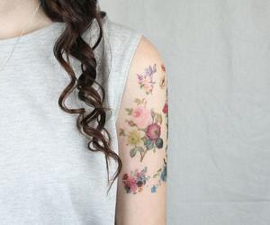 tattoo, flowers, and tatoo image