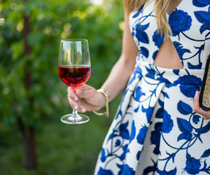 dress, wine, and chic image