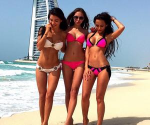 beach, Dubai, and girl image