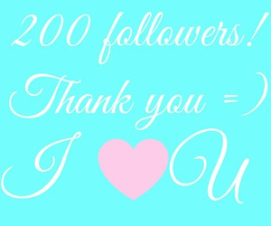 thanks, loveya, and 200followers image