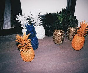 grunge, pineapple, and blue image
