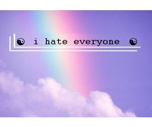 grunge, hate, and rainbow image