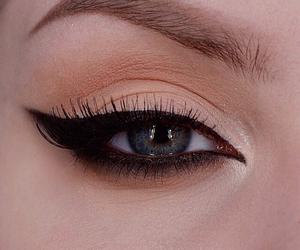 girl, beautiful, and eyeliner image