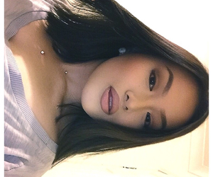 asian, beautiful, and brunette image
