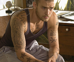 justin timberlake and tattoo image