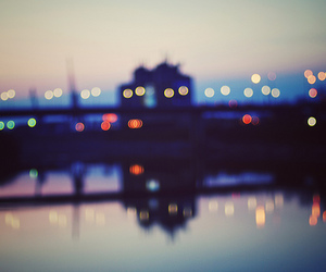 bokeh, dusk, and night image