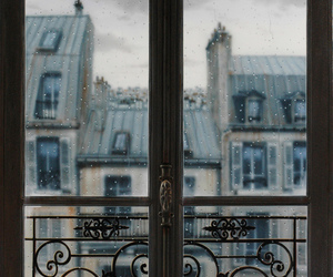 window, rain, and paris image