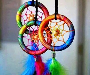 blue, dreamcatcher, and orange image