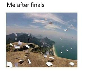 funny, exam, and final image