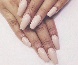 cream, nail style, and nails image