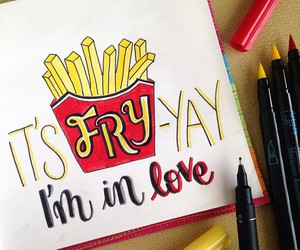 art, calligraphy, and fries image