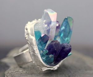 ring, crystal, and blue image